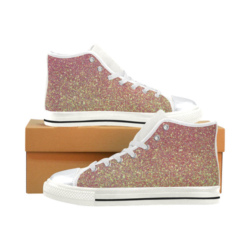 Kids Hi Tops High Top Shoes White Pink