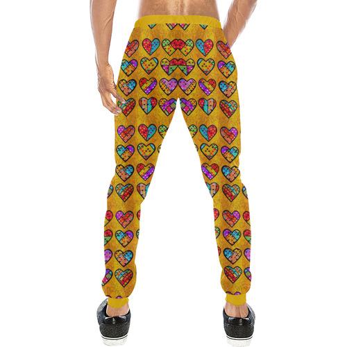 Love Popart by Nico Bielow Men's All Over Print Sweatpants (Model L11)