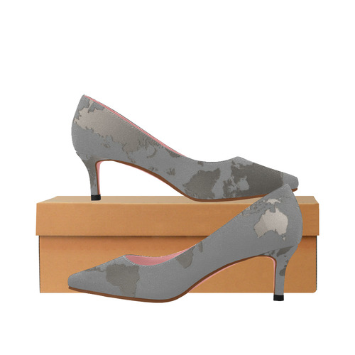 Womens Low Heel Shoes Pumps Pointed Toe