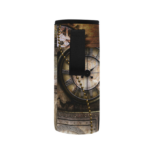 Wonderful steampunk design Neoprene Water Bottle Pouch/Medium