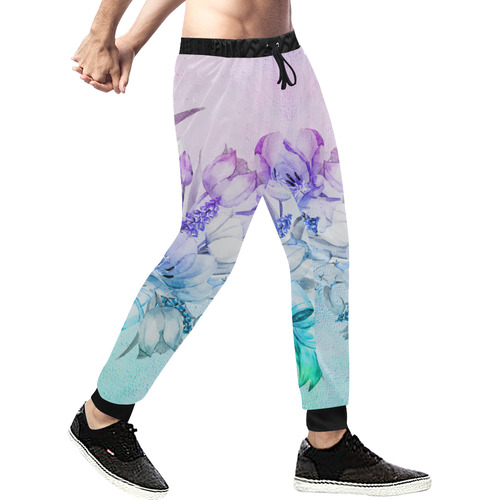 Wonderful flowers in soft watercolors Men's All Over Print Sweatpants (Model L11)