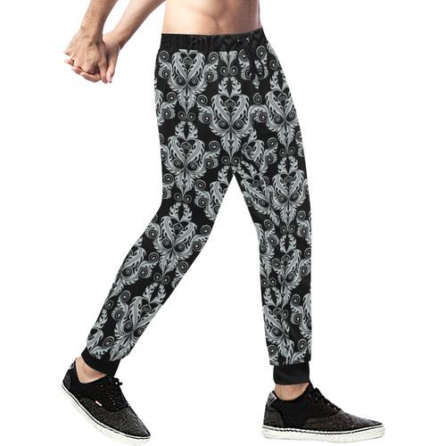 vintage pattern 916A Men's All Over Print Sweatpants (Model L11)