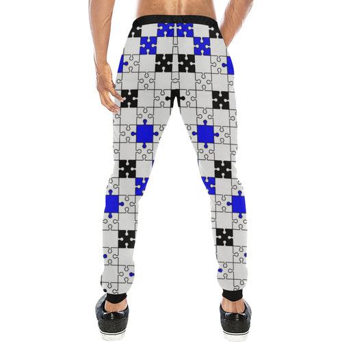 puzzle fun D Men's All Over Print Sweatpants (Model L11)