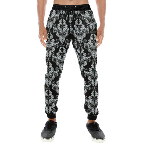vintage pattern 916A Men's All Over Print Sweatpants (Model L11)