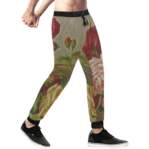 A Rose Is A Rose Is A Rose Men's All Over Print Sweatpants (Model L11)