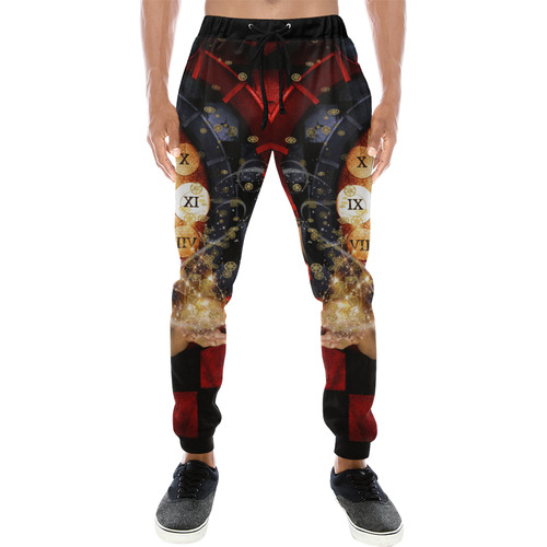 Beautiful steampunk lady Men's All Over Print Sweatpants (Model L11)
