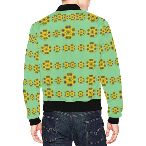 Sun flowers for the soul at peace All Over Print Bomber Jacket for Men (Model H19)