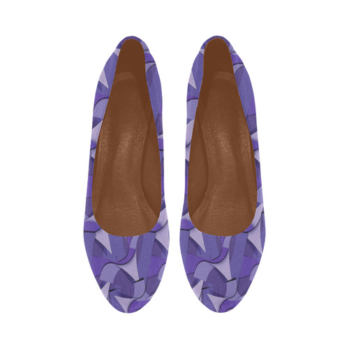 Ultra Violet Abstract Waves Women's High Heels (Model 044)