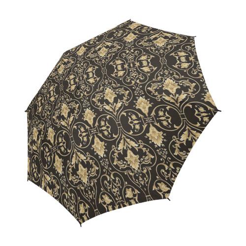 39bb29c93c4f1 Black Gold Damask Semi-Automatic Foldable Umbrella (Model U05)   ID:  D2210651