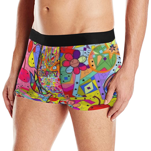 Happy by Nico Bielow Men's All Over Print Briefs (Model L12)