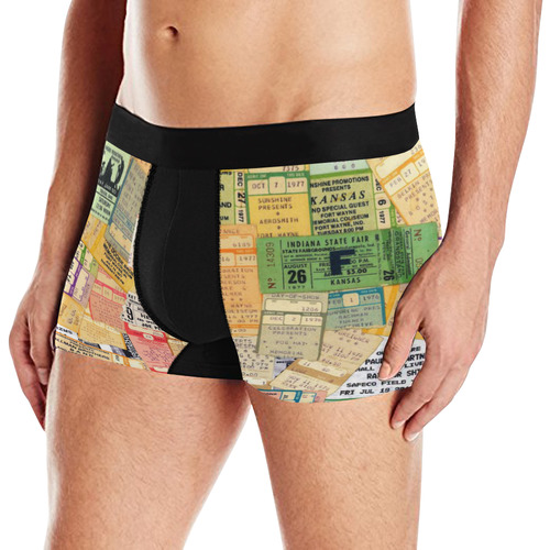 Mens Briefs Tickets Music Bands by Tell3People Men's All Over Print Briefs (Model L12)