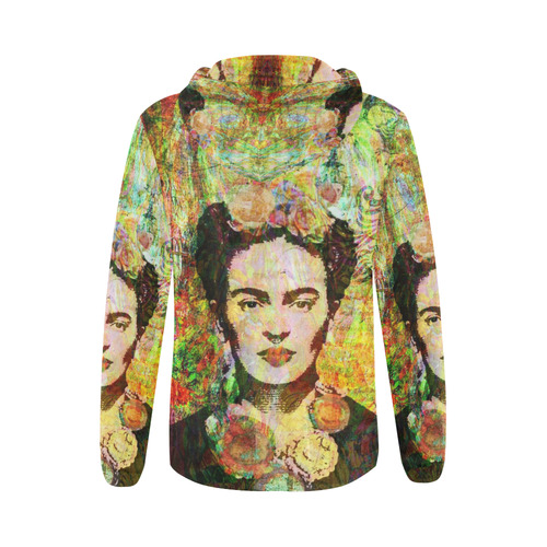 Freda in bloom All Over Print Full Zip Hoodie for Women (Model H14)