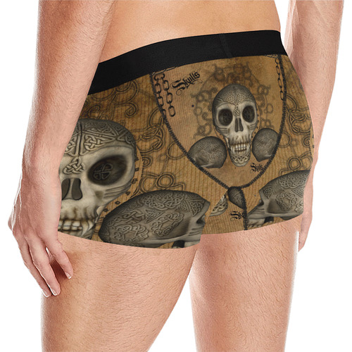 Awesome skull with celtic knot Men's All Over Print Briefs (Model L12)