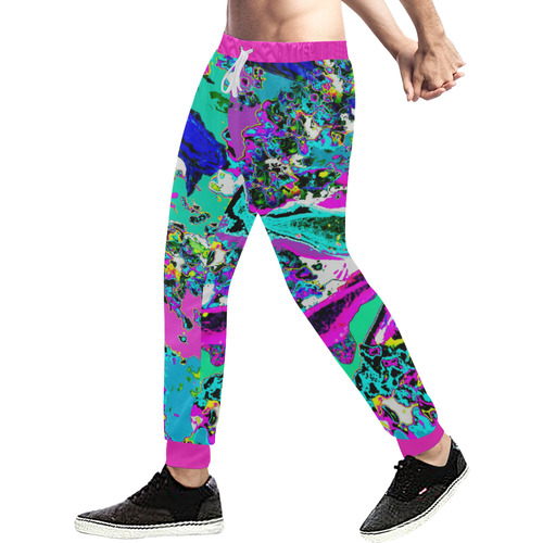 Neon Koi (Pastel) Men's All Over Print Sweatpants (Model L11)