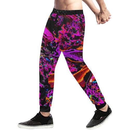 Neon Koi (Pink) Men's All Over Print Sweatpants (Model L11)