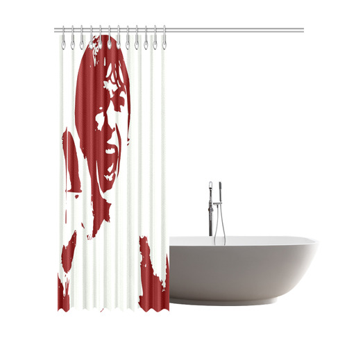 Psycho Shower Curtain 69x84