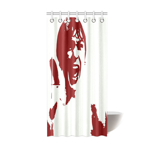 Psycho Shower Curtain 36x72