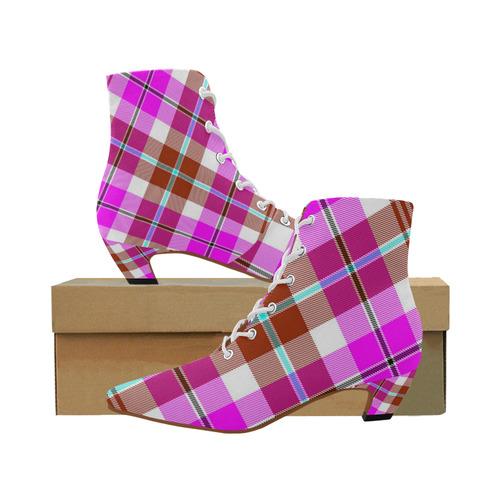 TARTAN 9008 Women's Pointed Toe Low Heel Booties (Model 052)