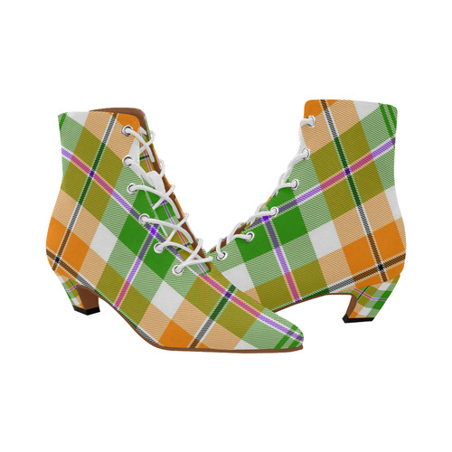 TARTAN 9009 Women's Pointed Toe Low Heel Booties (Model 052)