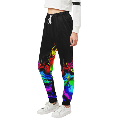 Abstract glowing 03 Unisex All Over Print Sweatpants (Model L11)