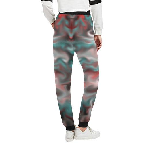 fascination fluid, aqua Unisex All Over Print Sweatpants (Model L11)