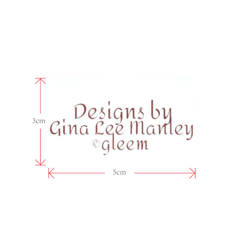 gleem logo Private Brand Tag on Shoes Tongue  (5cm X 3cm)