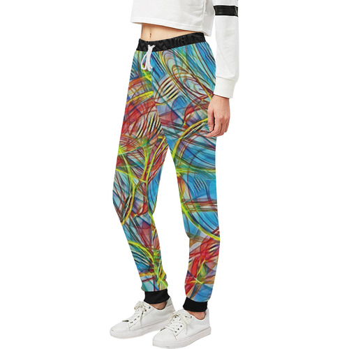 abstract joy 4 by JamColors Women's All Over Print Sweatpants (Model L11)