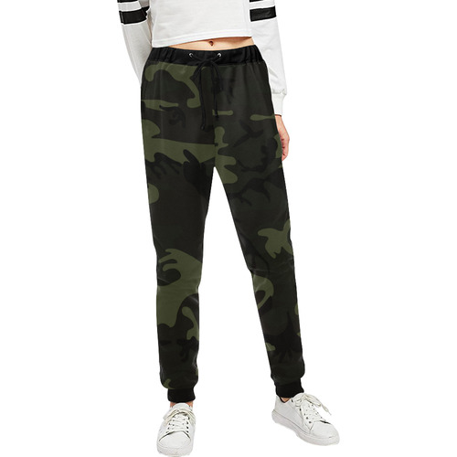 Camo Green Unisex All Over Print Sweatpants (Model L11)