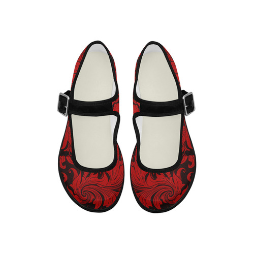 PATRONFLORALGRANDECOLORESred18000 Mila Satin Women's Mary Jane Shoes (Model 4808)