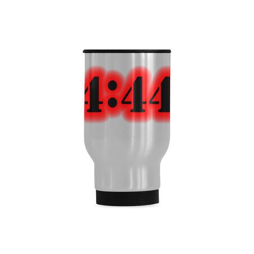 Angel Number 4:44 Travel Mug (Silver) (14 Oz)