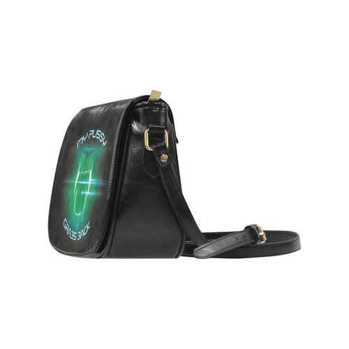 my p*ssy grabs back Classic Saddle Bag/Small (Model 1648)