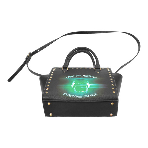 my p*ssy grabs back Rivet Shoulder Handbag (Model 1645)