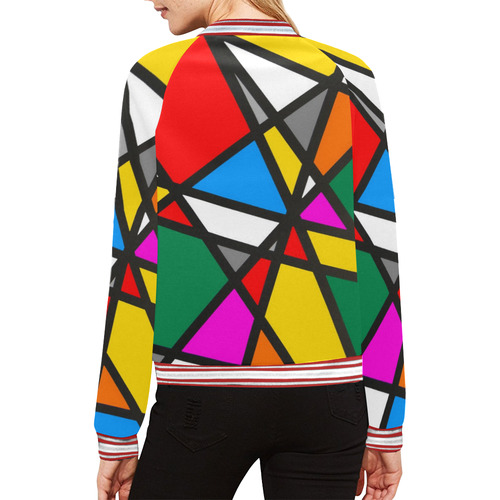 Mirror Popart by Nico Bielow All Over Print Bomber Jacket for Women (Model H21)