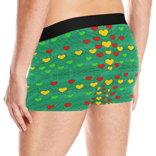 love is in all of us to give and show Men's All Over Print Boxer Briefs (Model L10)