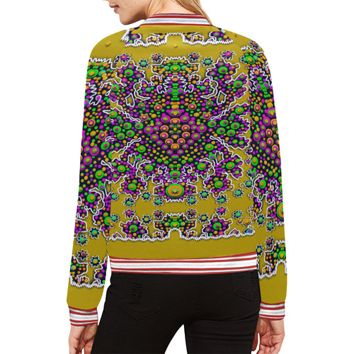 Peacock in peace All Over Print Bomber Jacket for Women (Model H21)
