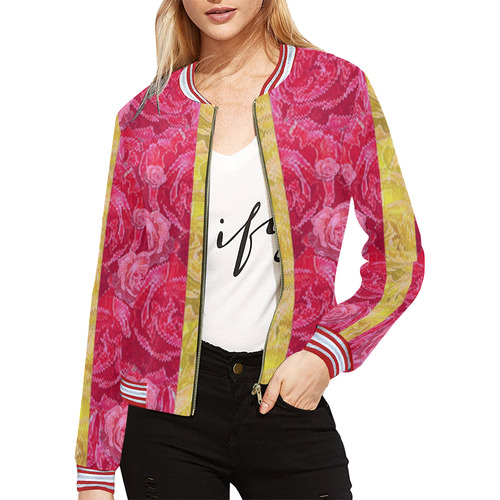 Rose and roses and another rose All Over Print Bomber Jacket for Women (Model H21)