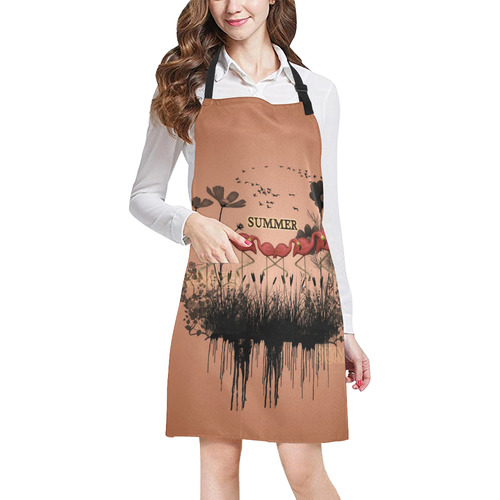 Summer design with flamingo All Over Print Apron