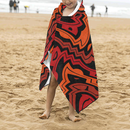 Heat wave Kids' Hooded Bath Towels