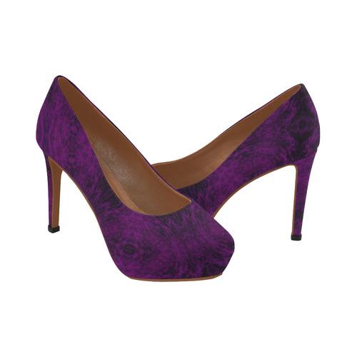 Dark Purple High Heels