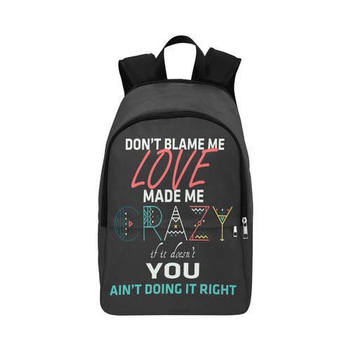 Don't Blame Me 2 Fabric Backpack for Adult (Model 1659)