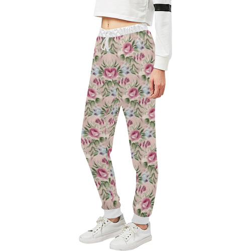 Cute floral 218A by JamColors Women's All Over Print Sweatpants (Model L11)