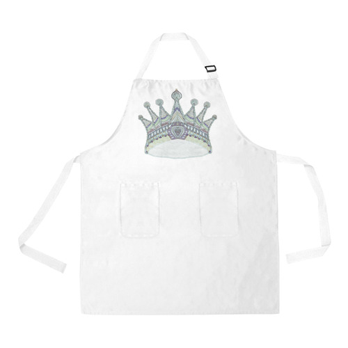 maya crown 7 All Over Print Apron