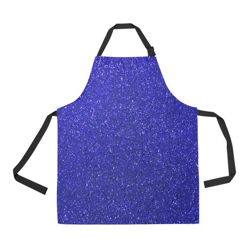 Blue Glitter All Over Print Apron