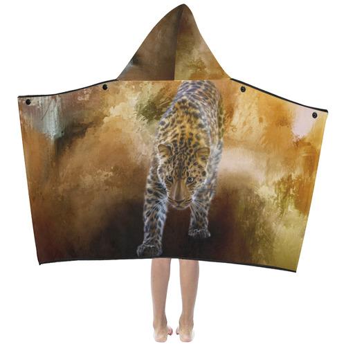 A fantastic painted russian amur leopard Kids' Hooded Bath Towels