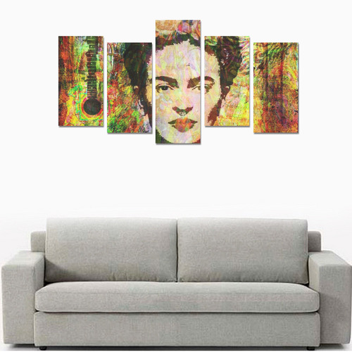 Frida Mixed media Multi Canvas Print Sets E (No Frame)