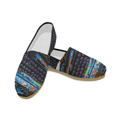 Women's Typewriter Toms Unisex Casual Shoes (Model 004)
