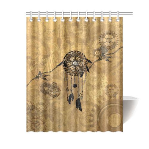 Steampunk Dreamcatcher Shower Curtain