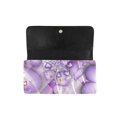 Candy Hearts Women's Trifold Wallet (Model 1675)