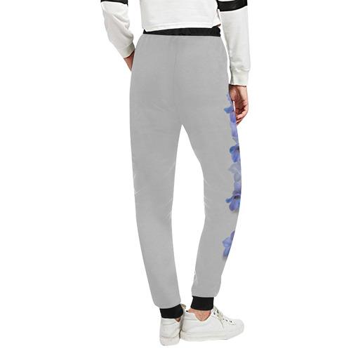 Blue - Violet Consolida original floral watercolor Women's All Over Print Sweatpants (Model L11)