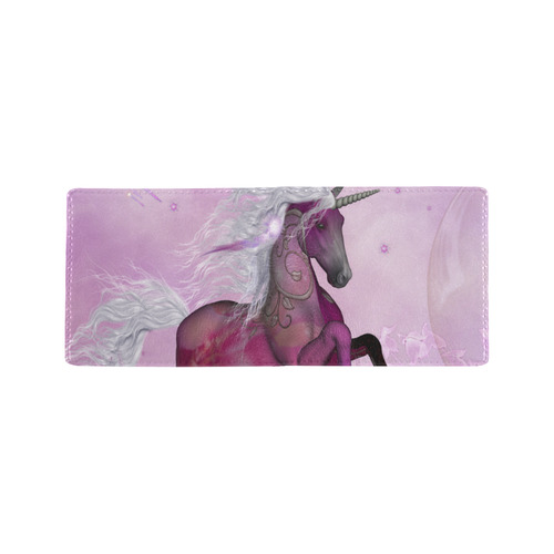 Awesome unicorn in violet colors Mini Bifold Wallet (Model 1674)